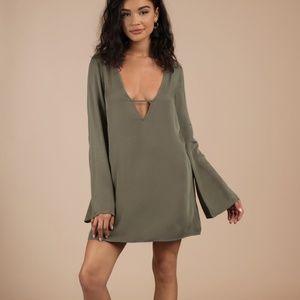 Tobi Whitney Olive Shift Dress